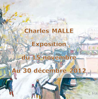 Exposition Charles MALLE galerie Pascale FROESSEL
