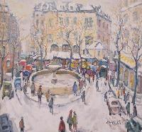 Paris, Place Pigalle   (80 X 80)